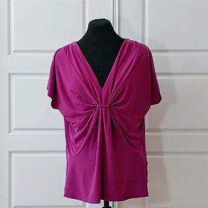 CHAUS Nice purple color V-neck top